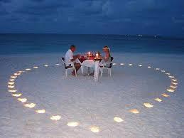 Dinner for two on the beachght
