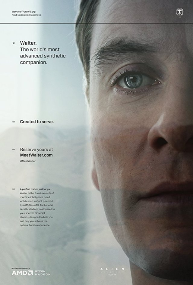 Michael Fassbender as android
